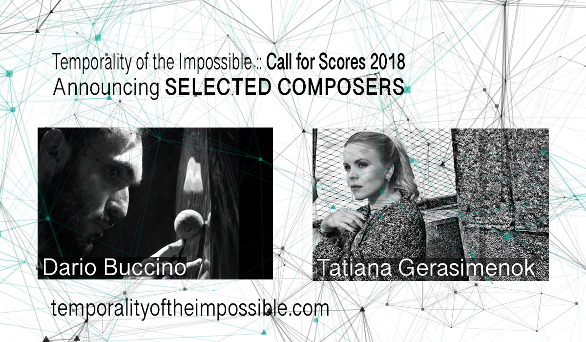 Call for Scores 2018 Selected Composers
